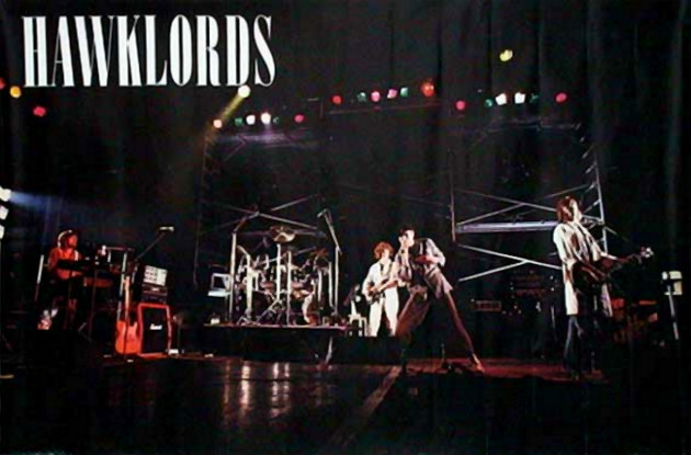 the original Hawklords on stage (1979)