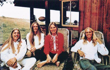 (l-to-r): Randy Wimer, Jeff Cotton, Merrell, Jeff Parker (Maui 1973)