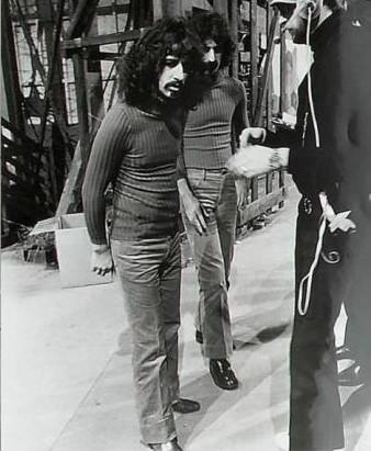 Ringo & Frank on the set of '200 Motels'