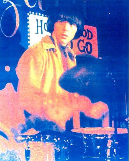 Michael Stuart drumming for Love