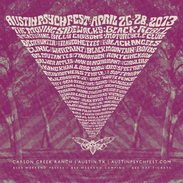 Austin Psych Fest 2013 poster