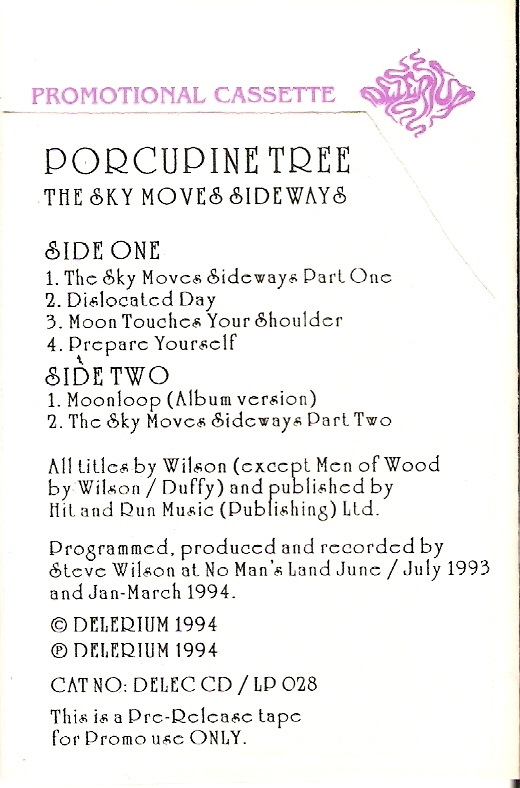 Porcupine Tree: The Sky Moves Sideways (promo)