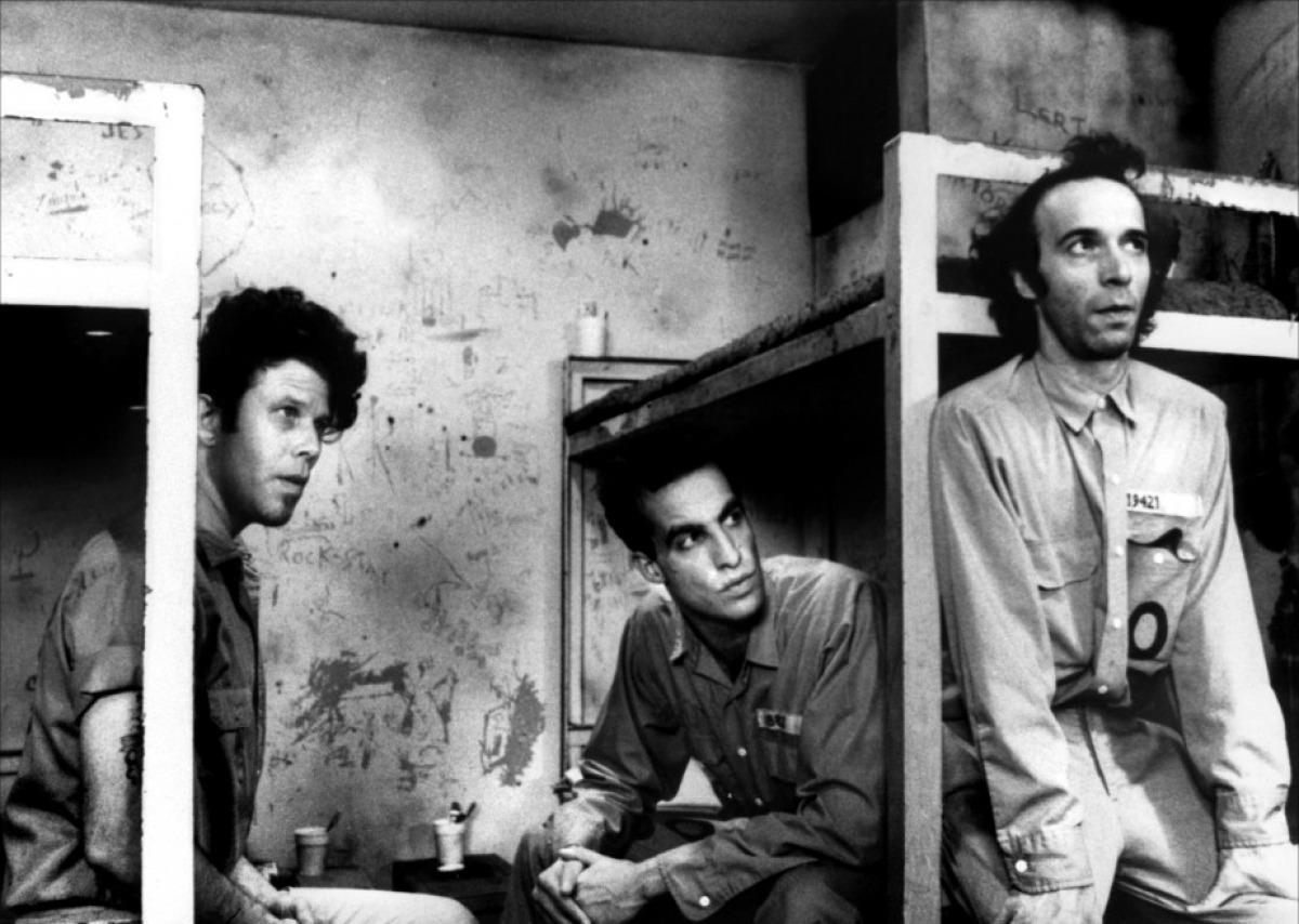 Tom Waits, John Lurie, Roberto Begnini (l-to-r)