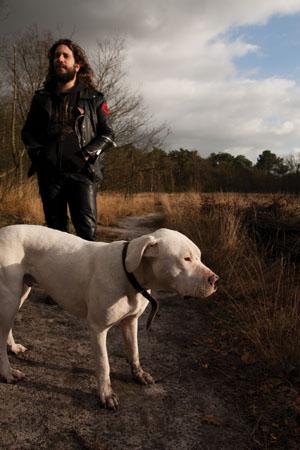 Selim Lemouchi & his dog
