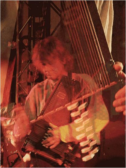 Playing autoharp at the Austin Psych Fest 2011