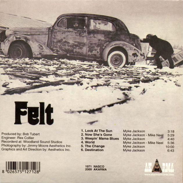 Felt (1971), back cover